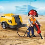 Compresseur de chantier diesel tractable marteau piqueur
