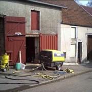 Compresseur de chantier diesel tractable sableuse