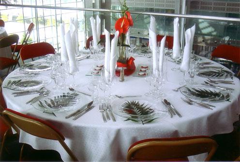 Tables rondes diam tre 180 cm 10 personnes for Table 10 personnes